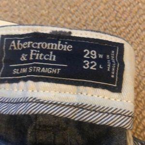 Abercrombie & Fitch Pants - Slim straight chambray khakis